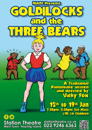Hayling Island What's On Event Goldilocks and the Three Bears Poster