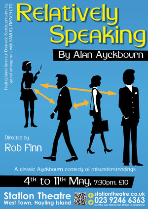 Hayling Island What's On Event Relatively Speaking Poster